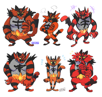 incineroar variants