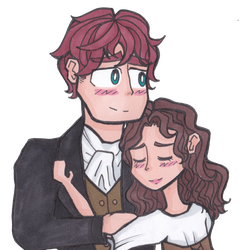Outlander - The Happy Couple by pferdmeister