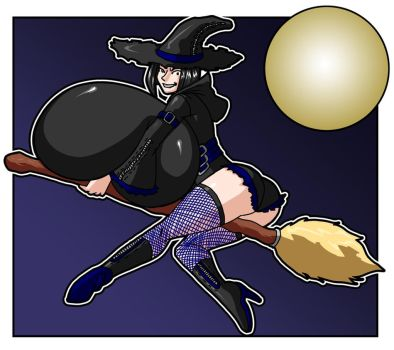 Halloween!: wicked witch Nini takes flight by Master-Erasis