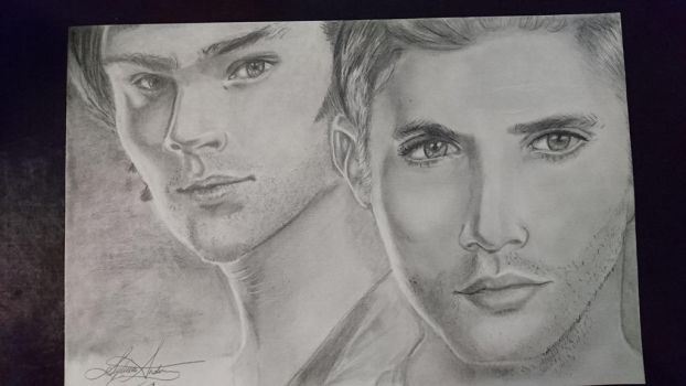 Sam And Dean W by Zombizm0