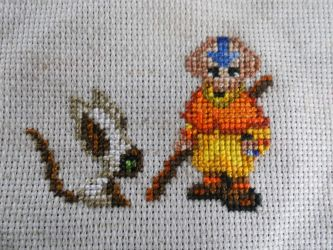 Aang and Momo Cross Stitch by Mickeycricky