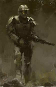 master chief fan art by lingy-0