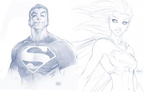 Superboy and Supergirl by Xionice
