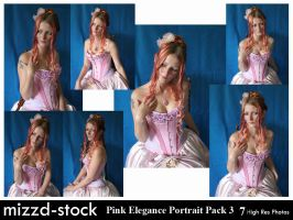 Pink Elegance Portrait Pack 3 by mizzd-stock