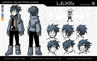 [METADORA] LEXIS CHARACTER SHEET by JakeiArtwork