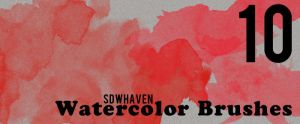 Watercolor Photoshop Brushes by sdwhaven