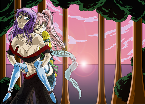 L-CON Shi. n Aya. entry 1  piggyback forest dawn by Scintillant-H