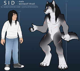 COMMISSION: Sid Werewolf Reference by Rott-i-kins