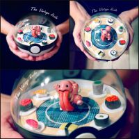 Poke Ball Terrarium - Likitunge Sushi Go Round! by TheVintageRealm