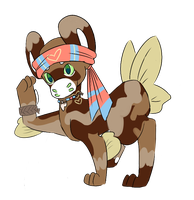 Minnow with uniform ribbon by RascalWabbit