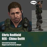Chris Redfield RE6 China Outfit by Adngel
