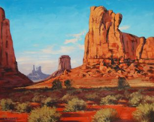 Monument Valley painting by artsaus