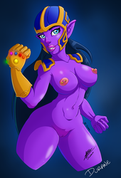 Thanos is a girl by Durane59