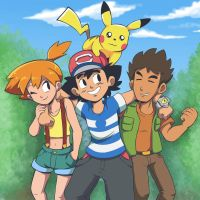 Ash, Misty and Brock  by MuchBlock10
