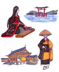 Sketches from Feudal Japan by HopelessHuman