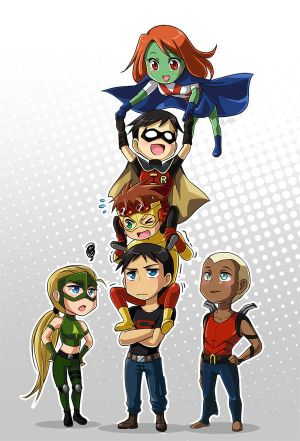 Young Justice Play Truth or Dare by misunderstoodshark on DeviantArt