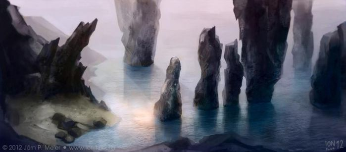 Rocks in the Sea by IonfluxDA