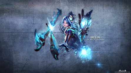 LoL - FrostBlade Irelia Wallpaper HD by xRazerxD