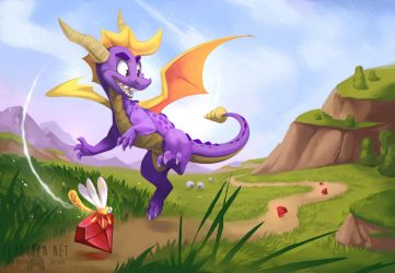 Classic Spyro by FlyQueen