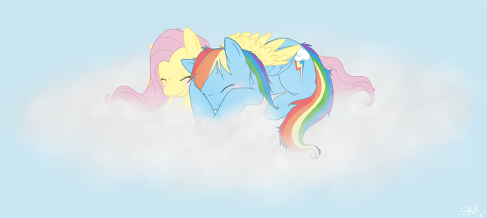 MLP: FiM - Cloud Cuddle by PterosaurPony