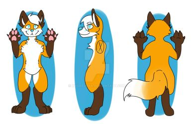 Sammi (Fursona Ref Sheet) (Commission) by KyuaFlora