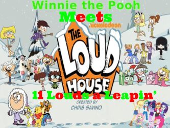 Winnie the Pooh/Loud House Holiday Poster by magmon47