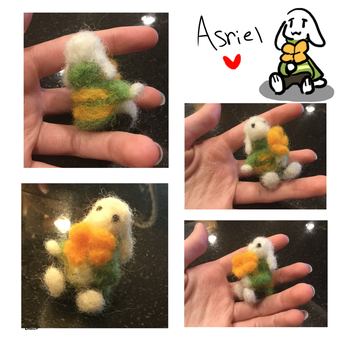 Felted Asriel by lemonbit