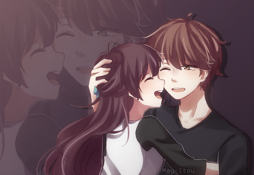 I like you! + [SPEEDPAINT] by May-Itou