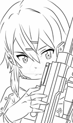 sinon render ~lineart 5~ by satyowhy