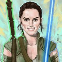 Rey Squared by mkmatsumoto