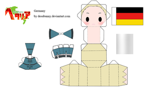 Hetalia Germany Papercraft by tsunyandere