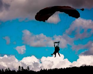 Sihouette Skydivers by BusterBrownBB