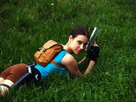 Lara Croft - on the grass by TanyaCroft