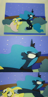 Paper Cutout Fluttershy and Luna by vmkhappy-panda