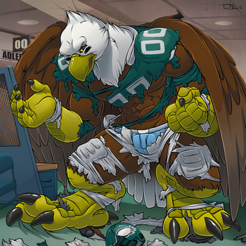 Changing In The Locker Room by Pheagle-Adler