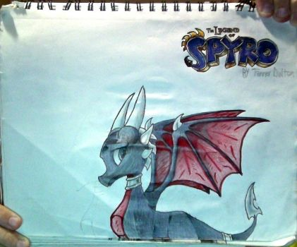 Cynder+The Legend of Spyro logo drawing(Unflipped) by TannMann64
