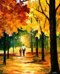 Stroll In The Forest by Leonid Afremov by Leonidafremov