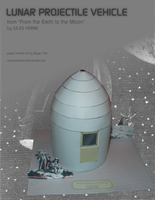 Jules Verne Lunar Projectile Vehicle Paper Model by RocketmanTan