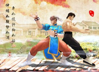 Street Fighter chunli and feilong by shenlai