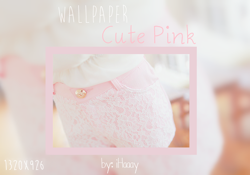 Cute Pink Wallpaper by iHaaay