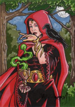 Witchcraft Sketch Card AP by ElainePerna