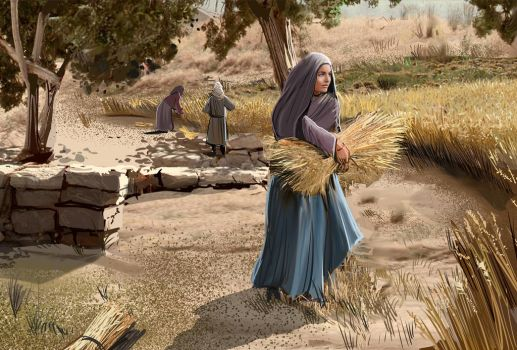 Ruth Gathering Wheat by pyraker