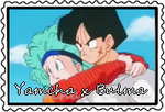stamp: Yamcha and Bulma by CogetaCats