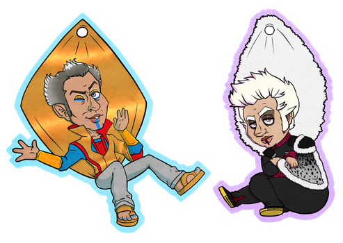 Grandmaster and Collector Charms by stitcheduptogether