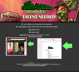 The Toxic Avenger Remake 2019 - TALENT NEEDED! by NeonSofwareStudios