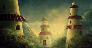Temples by AbstractLuva