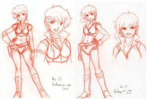 From the Vault: Kei re-design sheet by RedShoulder