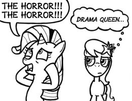 Rarity the Drama Queen by SamuelEAllen