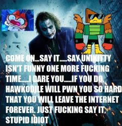 Joker Stands Up For Unikitty Like A Boss by mrlorgin