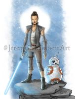 Rey and BB8 by JeremiahLambertArt